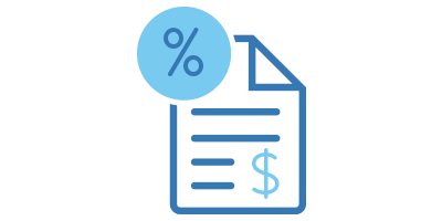 Tax Document with Percent Icon