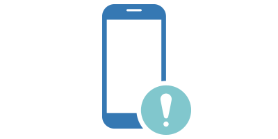 Mobile Phone with Alert Icon