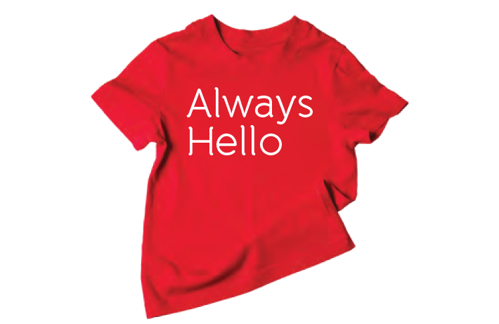 wow with always hello shirt